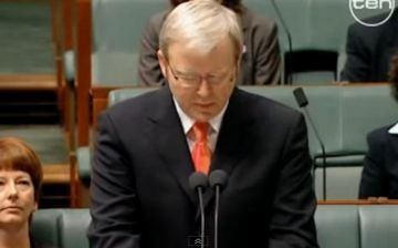 Prime Minister of Australia, Kevin Rudd, apologised to the Stolen Generations and said 'sorry'