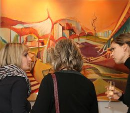 art place berlin - Exhibition - Labyrinth der Welt - painting by Christin-Lutze.
