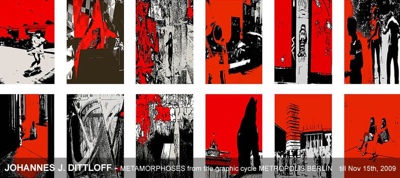 JOHANNES J. DITTLOFF - METAMORPHOSES from the graphic cycle METROPOLIS BERLIN