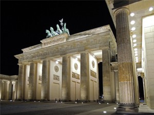 photography exhibition by art place berlin - Berlin Impressions - Brandenburg Gate at night